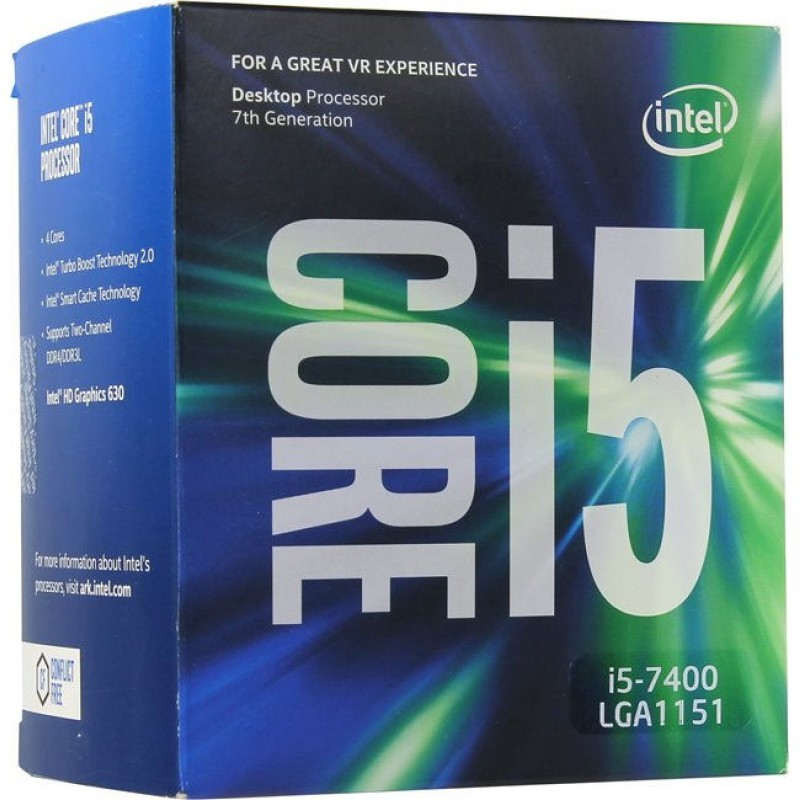 Процессор Intel Core i5 7400 Soc-1151 (3GHz, Intel HD Graphics 630) Box