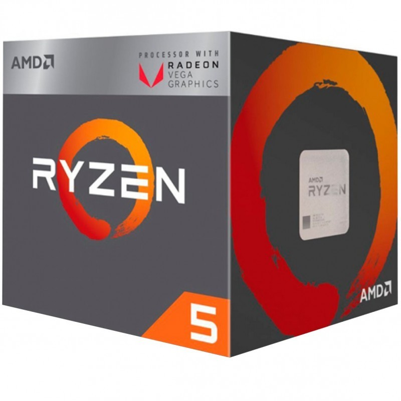 Процессор AMD Ryzen 5 2400G AM4 (YD2400C5FBBOX) (3.6GHz, Radeon Vega) Box