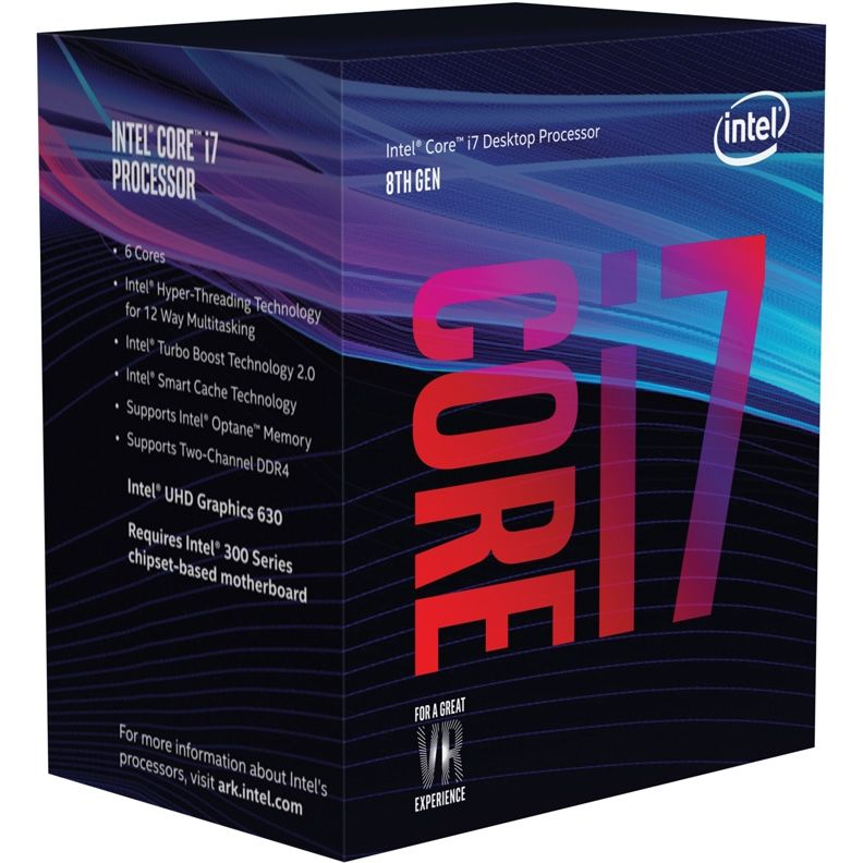 Процессор Intel Core i7 8700K Soc-1151v2 (3.7GHz, Intel UHD Graphics 630), BOX без кулера