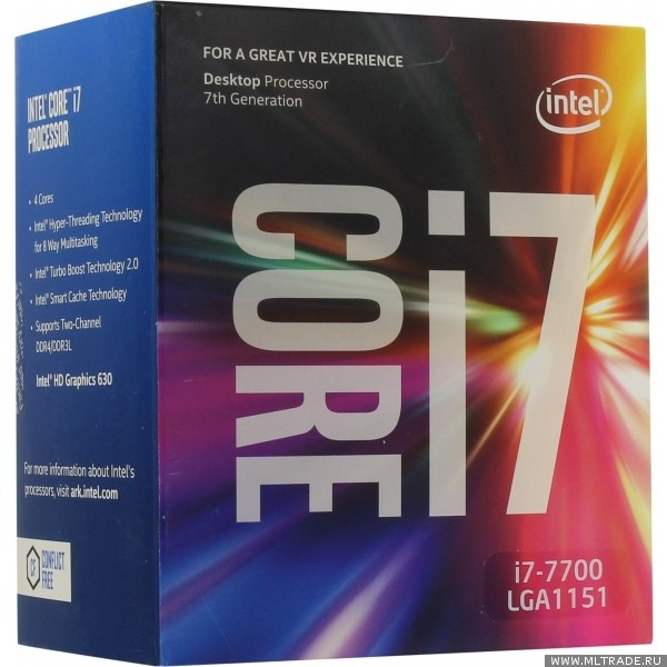 Процессор Intel Core i7 7700 Soc-1151 (3.6GHz, Intel HD Graphics 630) Box